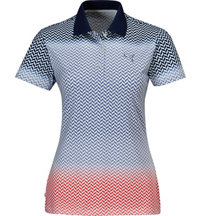 Women's Chevron Fade Short Sleeve Polo