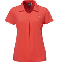 Women's Pleat Short Sleeve Polo