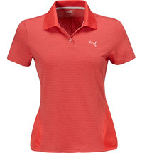 Women's Mesh Stripe Short Sleeve Polo