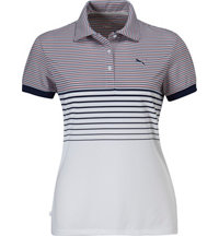 Women's Double Stripe Short Sleeve Polo