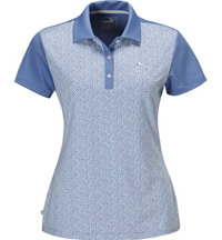 Women's Tile Print Short Sleeve Polo