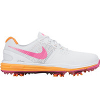 Women's Lunar Control Golf Shoes - White/Pink Pow