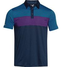 Men's coldblack Major Stripe Short Sleeve Polo