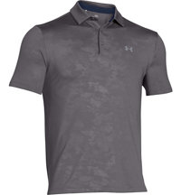 Men's Bark Camo Embossed Playoff Short Sleeve Polo