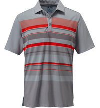 Men's Graphic Chest Stripe Short Sleeve Polo
