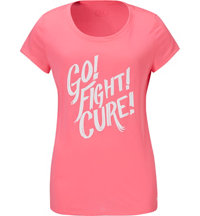 Women's Power In Pink Go Fight Short Sleeve T-Shirt