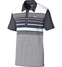 Men's Yarn Dyed Stripe Short Sleeve Polo