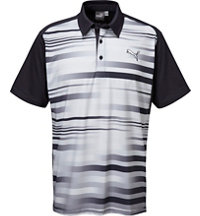 Men's #GOTIME Blur Stripe Short Sleeve Polo