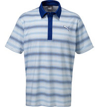 Men's #GOTIME Check Stripe Short Sleeve Polo