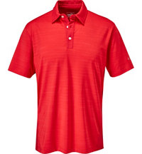 Men's Heather Stripe Short Sleeve Polo
