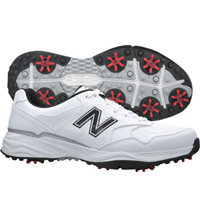 Men's Golf 1701 Spiked Golf Shoes - White/Black (NBG1701)