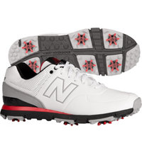 Men's Golf 574 Spiked Golf Shoe - White/Red (NBG574)