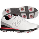 New Balance Men's Golf 574 Spiked Golf Shoe - White/Red (NBG574)