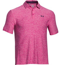 Men's Playoff Heathered Print Short Sleeve Polo