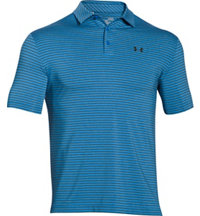 Men's Playoff Heathered Stripe Short Sleeve Polo