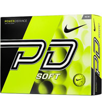 Logo Power Distance Soft Yellow Golf Balls