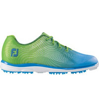 Women's emPower Spikeless Golf Shoes - Lime/Blue (FJ#98001)