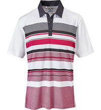 Men's climacool Graphic Chest Stripe Short Sleeve Polo
