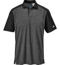 Men's climacool Heather Microstripe Short Sleeve Polo