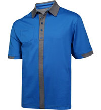 Men's Pinstripe Short Sleeve Polo