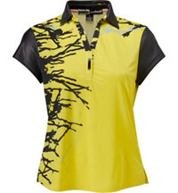 Women's Splatter Print Short Sleeve Polo