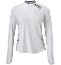 Women's Seine Keyhole Long Sleeve Polo