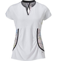 Women's D'Orsay V-Neck Short Sleeve Polo