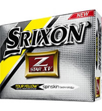 Logo Z-Star XV Yellow Golf Balls