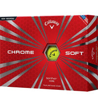 Logo Chrome Soft Yellow Golf Balls