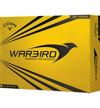 Personalized Warbird Yellow Golf Ball