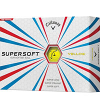 Personalized Supersoft Yellow Golf Ball