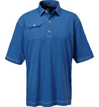 Men's Contrast Stitch Short Sleeve Polo