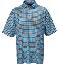 Men's Gingham Lisle Short Sleeve Polo