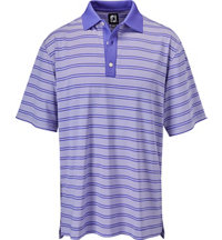Men's Lisle Stripe Set Short Sleeve Polo