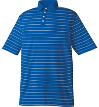Men's Lisle Stripe Solid Placket Short Sleeve Polo