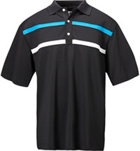 Men's Stretch Pique Chest Strip Short Sleeve Polo