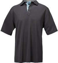 Men's Stretch Pique Solid Short Sleeve Polo