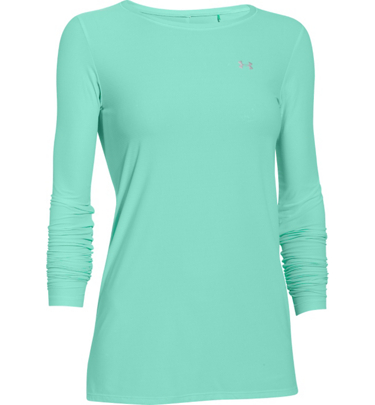 Under armour women 39 s sunblock 30 long sleeve t shirt at for Lightweight breathable long sleeve shirts