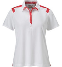 Women's Snap Placket Short Sleeve Polo