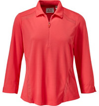Women's 3/4 Zip Polo