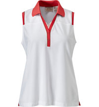 Women's Snap Placket Sleeveless Polo