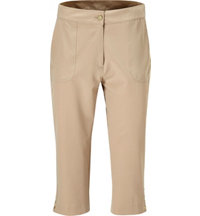 Women's Snap Hem Capri Pants