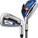 Blue 3H-4H, 5-PW Combo Iron Set with Steel Shafts