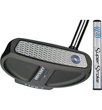 Works Mallet Charcoal Putter with Super Stroke Grip