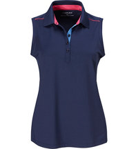Women's Knit Trim Novelty Sleeveless Polo