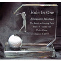 Great Golf Memories Personalized Crystal Hole In One Award