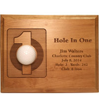 Personalized 7x9 Laser Etched Hole In One Plaque
