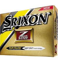 Personalized Z-Star Yellow Golf Balls