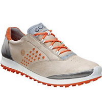 Women's BIOM G2 Hybrid 2 Spikeless Golf Shoes - Oyster/Orange
