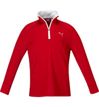 Boy's Golf Quarter-Zip Long Sleeve Top